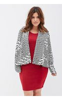 Forever 21 Abstract-patterned Knit Cardigan - Lyst