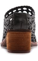 Jeffrey Campbell Armadillo Woven Mules Brown - Lyst