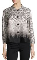Lafayette 148 New York Brocade Four-button Topper - Lyst