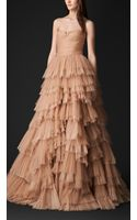 Burberry Tulle and Silk Organza Bustier Evening Gown - Lyst