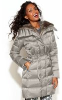 Laundry By Shelli Segal Hooded Faux Fur Lined Belted Down Puffer Coat - Lyst