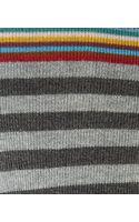 Paul Smith Grey Top Stripe Cottonblend Socks - Lyst