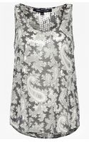 French Connection Paisley Party Sequinned Vest Top - Lyst