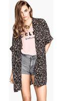 H&M Patterned Kimono - Lyst