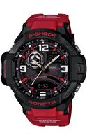 G-shock Mens Analog-digital Red Resin Strap Watch 51x52mm -4b - Lyst