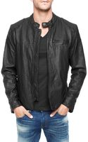 True Religion Black Racer Mens Leather Jacket - Lyst