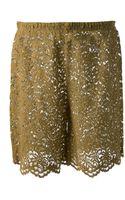Erika Cavallini Semi Couture Lace Shorts - Lyst