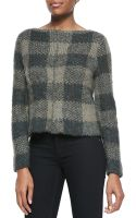 Rag & Bone Cammie Checkpattern Knit Sweater - Lyst