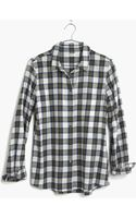 Madewell Flannel Boyshirt in Edgewood Plaid - Lyst