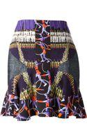 Peter Pilotto Ruffle Print Skirt - Lyst