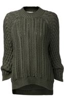 3.1 Phillip Lim Cable Knit Pullover - Lyst