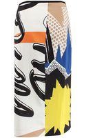 Schumacher Pop Print Pencil Skirt - Lyst