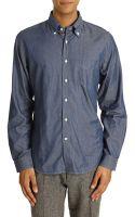 Gant Rugger Luxury Indigo Blue Shirt - Lyst