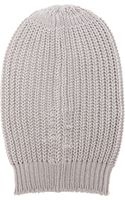 Rick Owens Ribbed Beanie - Lyst