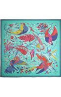 Emma J Shipley Audubon Printed Silk-chiffon Scarf - Lyst