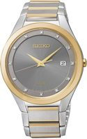Seiko Mens Solar Diamond Accent Twotone Stainless Steel Bracelet Watch 39mm Sne344 Only At Macys - Lyst