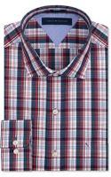 Tommy Hilfiger Slimfit Red Multicheck Dress Shirt - Lyst