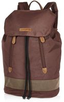 River Island Brown Nylon Backpack - Lyst