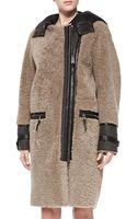 Belstaff Curly Shearling Fur Coat - Lyst