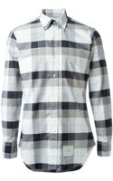 Thom Browne Checked Shirt - Lyst