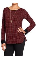 Old Navy Patterned Crepe Blouses - Lyst