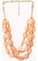 Forever 21 Standout Layered Bead Necklace - Lyst