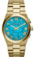 Michael Kors Gold-tone Turquoise Watch - Lyst