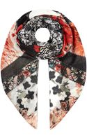 Roberto Cavalli Panelled Floral Scarf - Lyst
