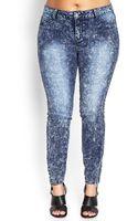 Forever 21 Acid Wash Skinny Jeans - Lyst