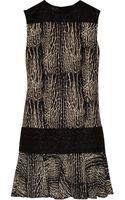 Giambattista Valli Printed Wool and Silk-Blend Dress - Lyst