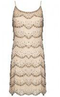 Alice + Olivia Wes Embellished Scallop Slip Dress - Lyst