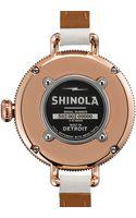 Shinola The Birdy Rose Golden Doublewrap Watch 34mm - Lyst