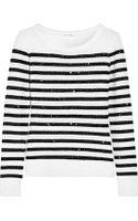 Oscar de la Renta Sequined Knitted Sweater - Lyst
