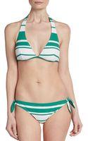 Dolce & Gabbana Striped Halter Bikini Top - Lyst
