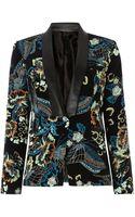 Biba Printed Pu Trim Jacket - Lyst