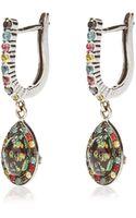 Daniela Villegas Traveler 18k Gold Sapphire Tsavorite and Black Diamond Earrings - Lyst