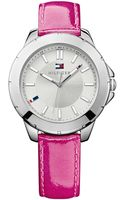 Tommy Hilfiger Womens Raspberry Patent Leather Strap Watch 38mm - Lyst