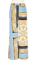River Island Light Blue Scarf Print Palazzo Trousers - Lyst