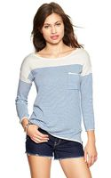 Gap Nautical Boatneck Sweater - Lyst