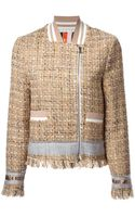 MSGM Band Collar Tweed Jacket - Lyst