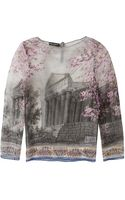 Dolce & Gabbana Sicilian Printed Silk Blouse - Lyst