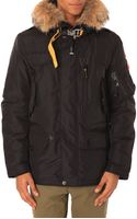 Parajumpers Right Hand Parka Removable Fur and Lining in Navy - Lyst