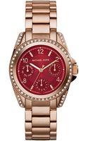 Michael Kors Mini Blair Rose Golden Stainless Steel Watch - Lyst