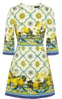 Dolce & Gabbana Printed Jacquard Mini Dress - Lyst