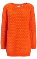 Chinti & Parker Orange Merino Oversize Aran Jumper - Lyst