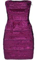 Forever Unique Sequin Strapless Short Dress - Lyst