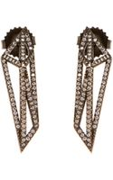 Monique Péan Geometric Signature Open Cage Earrings in Black Gold and White Diamonds - Lyst