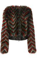 Givenchy Chevron Print Jacket - Lyst