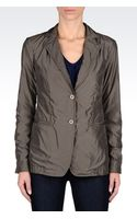 Emporio Armani Jacket in Technical Fabric and Jersey - Lyst