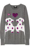 Markus Lupfer Loves Hillier Sequined Merino Wool Deer Sweater - Lyst